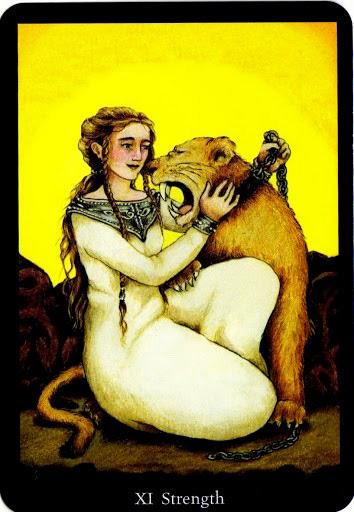 Lá Strength trong bộ bài Anna K Tarot