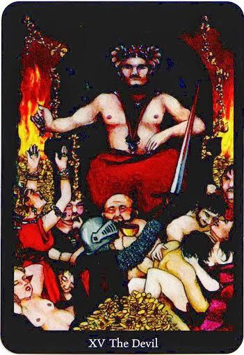 Lá The Devil trong bộ bài Anna K Tarot