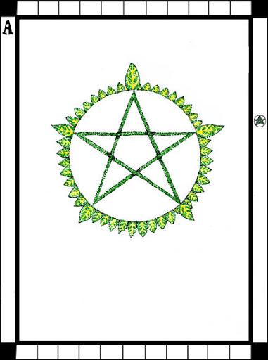 Lá Ace of Pentacles trong bộ bài Transparent Tarot