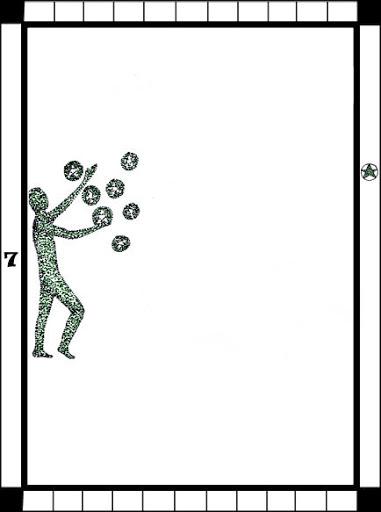 Lá 7 of Pentacles trong bộ bài Transparent Tarot