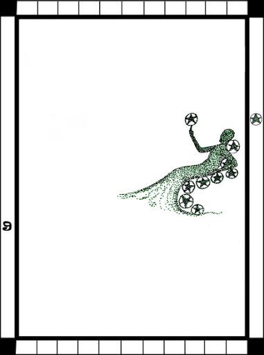 Lá 9 of Pentacles trong bộ bài Transparent Tarot