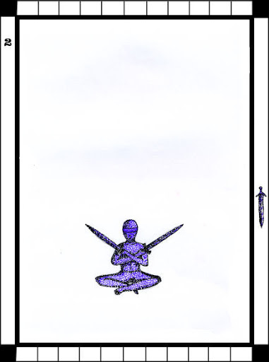 Lá 2 of Swords trong bộ bài Transparent Tarot