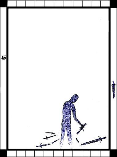 Lá 5 of Swords trong bộ bài Transparent Tarot