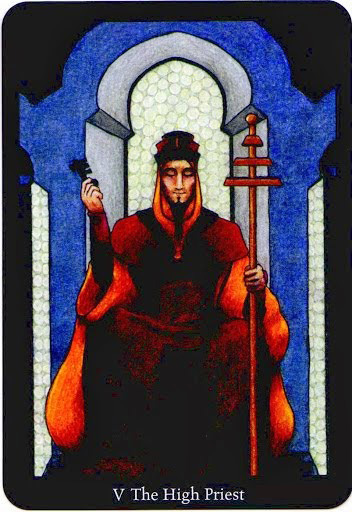 Lá The High Priest trong bộ bài Anna K Tarot