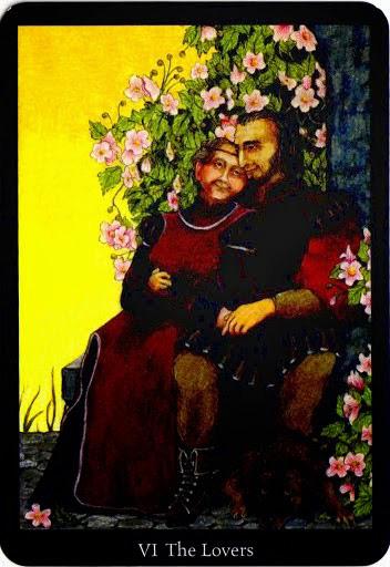Lá The Lovers trong bộ bài Anna K Tarot