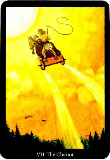 Lá The Chariot trong bộ bài Anna K Tarot