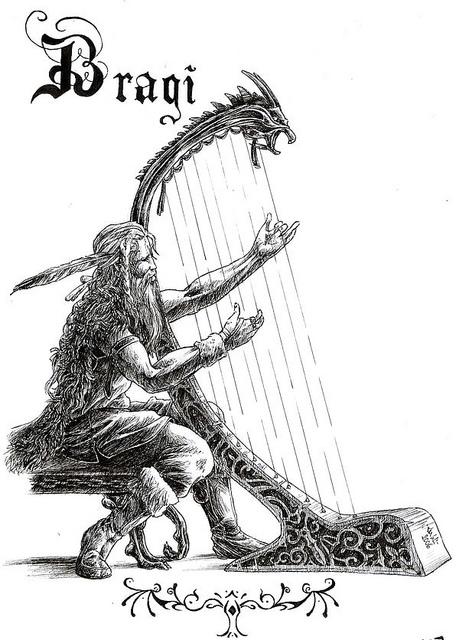 Bragi – tranh của Asfodelo