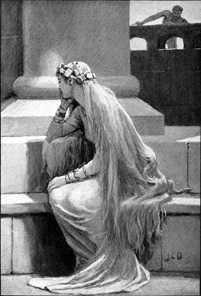 Sif và Loki (1909) - tranh của John Charles Dollman