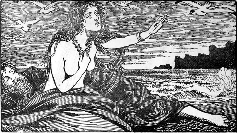 Skaði nhớ núi (1908) - tranh của W.G. Collingwood