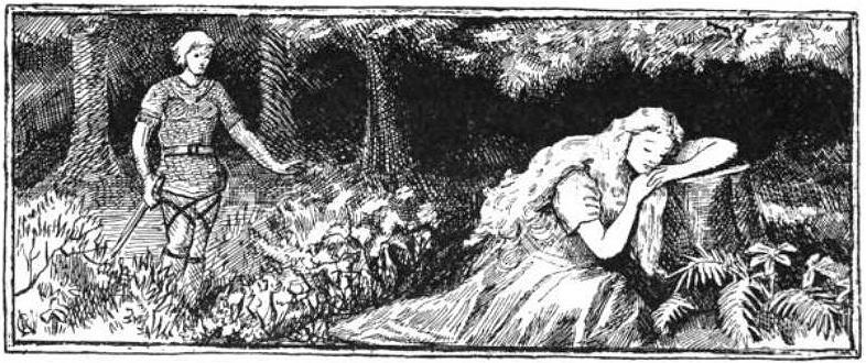 Loki và Sif (1894) - tranh của A. Chase