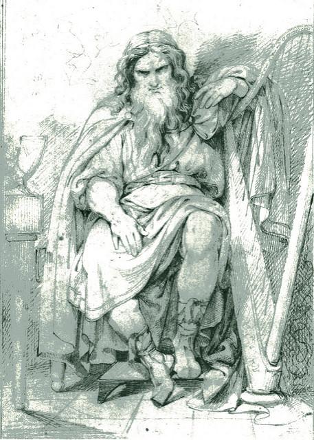 Bragi bên đàn harp – tranh của Carl Wahlbom