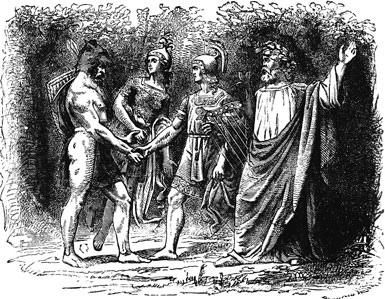 Bragi và Hermóðr đón tiếp – khuyết danh