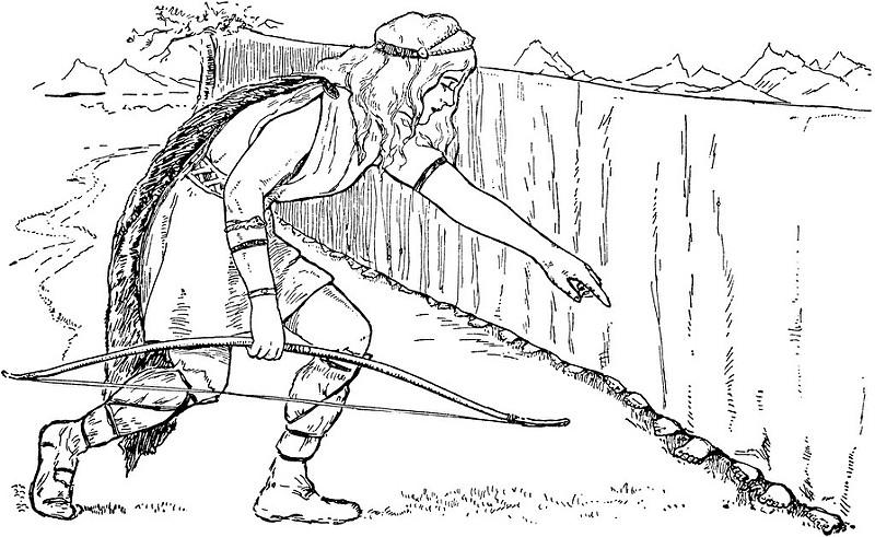 Skaði chọn chồng (1909) - tranh của Maria Klugh