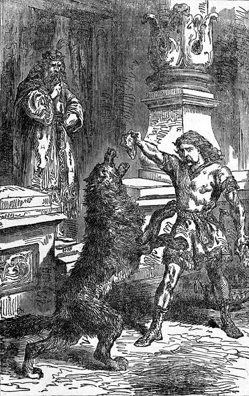 Týr dụ Fenrir (1891) - tranh của Louis Huard