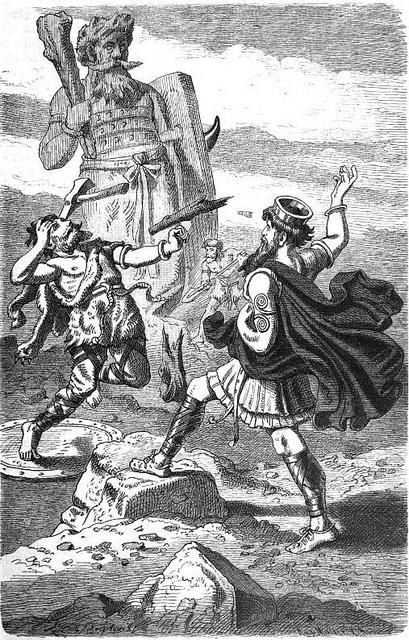 Þórr và Hrungnir (1882) - tranh của Carl Emil Doepler