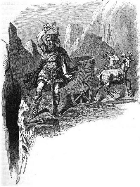 Þórr trên cỗ xe dê kéo (1882) - tranh của Carl Emil Doepler