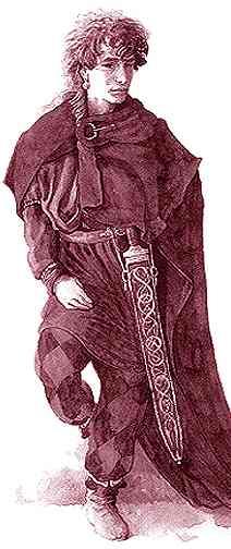 Loki, con trai của Laufey – tranh của Tudor Humphries