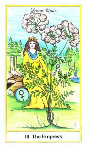 Ý nghĩa lá The Empress trong bộ bài Herbal Tarot