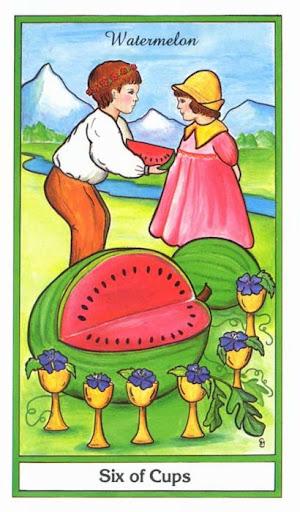 Ý nghĩa lá 6 of Cups trong bộ bài Herbal Tarot