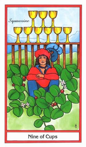 Ý nghĩa lá 9 of Cups trong bộ bài Herbal Tarot