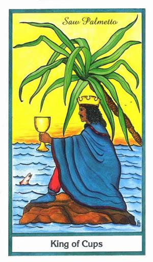 Ý nghĩa lá King of Cups trong bộ bài Herbal Tarot
