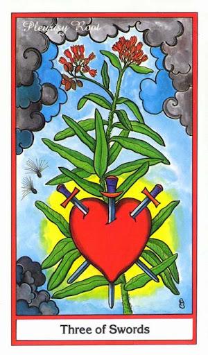 Ý nghĩa lá 3 of Swords trong bộ Herbal Tarot