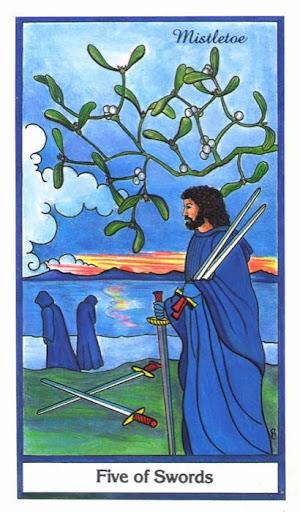 Ý nghĩa lá 5 of Swords trong bộ bài Herbal Tarot