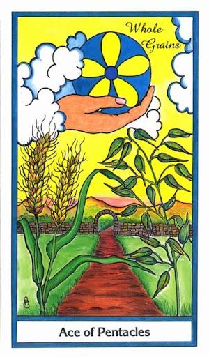 Ý nghĩa lá Ace of Pentacles trong bộ bài Herbal Tarot