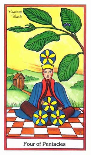 Ý nghĩa lá 4 of Pentacles trong bộ bài Herbal Tarot