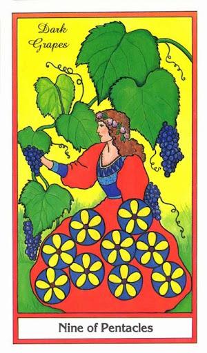 Ý nghĩa lá 9 of Pentacles trong bộ bài Herbal Tarot
