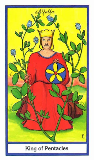 Ý nghĩa lá King of Pentacles trong bộ bài Herbal Tarot