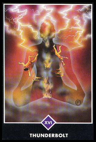 Ý nghĩa lá XVI. Thunderbolt trong bộ bài Osho Zen Tarot
