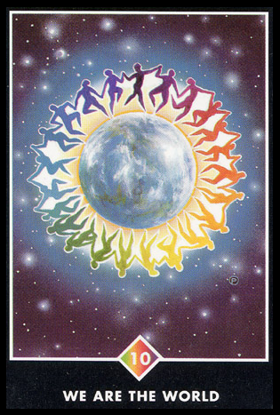 Ý nghĩa lá 10 of Rainbows trong bộ bài Osho Zen Tarot