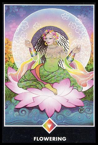 Ý nghĩa lá Queen of Rainbows trong bộ bài Osho Zen Tarot