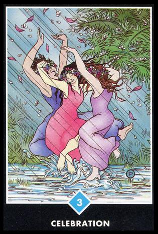 Ý nghĩa lá 3 of Water trong bộ bài Osho Zen Tarot