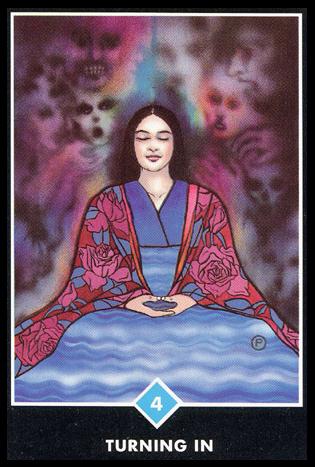 Ý nghĩa lá 4 of Water trong bộ bài Osho Zen Tarot