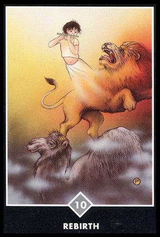 Ý nghĩa lá 10 of Clouds trong bộ bài Osho Zen Tarot