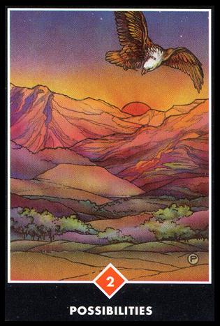 Ý nghĩa lá 2 of Fire trong bộ bài Osho Zen Tarot