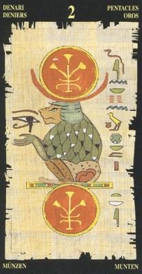 Ý nghĩa lá 2 of Pentacles trong bộ bài Egyptian Tarot