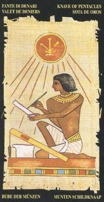Ý nghĩa lá Knave of Pentacle trong bộ bài Egyptian Tarot