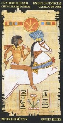 Ý nghĩa lá Knight of Pentacle trong bộ bài Egyptian Tarot