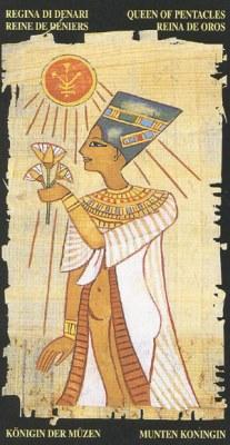 Ý nghĩa lá Queen of Pentacle trong bộ bài Egyptian Tarot
