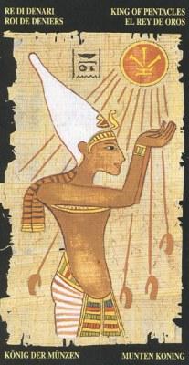 Ý nghĩa lá King of Pentacle trong bộ bài Egyptian Tarot