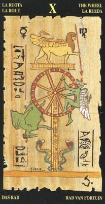 Ý nghĩa lá X The Wheel trong bộ bài Egyptian Tarot