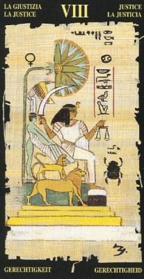 Ý nghĩa lá VIII Justice trong bộ bài Egyptian Tarot