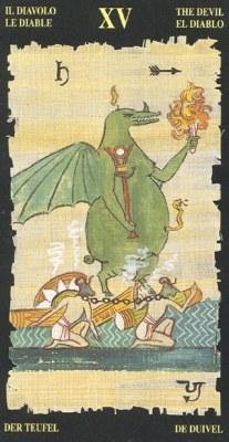 Ý nghĩa lá XV The Devil trong bộ bài Egyptian Tarot