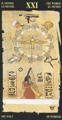 Ý nghĩa lá XXI The World trong bộ bài Egyptian Tarot
