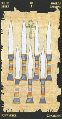Ý nghĩa lá 7 of Swords trong bộ bài Egyptian Tarot