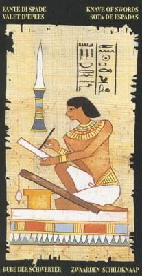 Ý nghĩa lá Knave of Swords trong bộ bài Egyptian Tarot