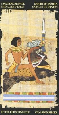 Ý nghĩa lá Knight of Swords trong bộ bài Egyptian Tarot